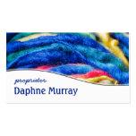 Colourful Yarn Shop Knitting Business Card