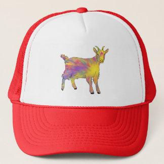 Colourful Yellow Flaming Art Goat Animal Design Trucker Hat