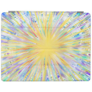 Colourful Yellow Starburst Abstract Art Design iPad Cover