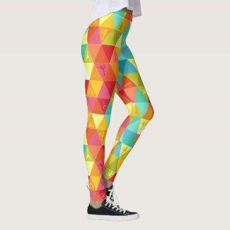 Colourful Yoga Triangles Leggings