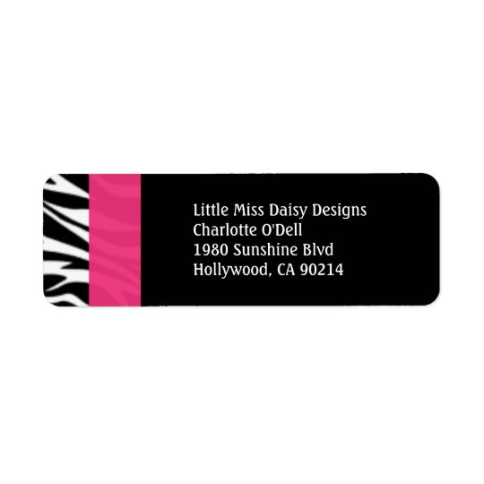 Colourful Zebra Print Return Address Label