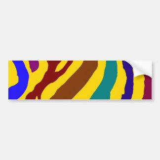 Colourful zebra stripes bumper sticker