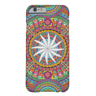 Colourful Zendala with white centre Barely There iPhone 6 Case