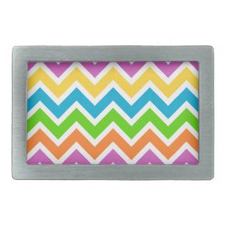Colourful Zigzag pattern Belt Buckle