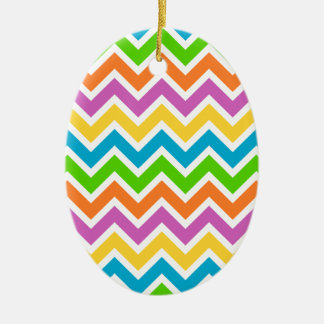Colourful Zigzag pattern Christmas Ornament