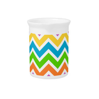 Colourful Zigzag pattern Pitcher