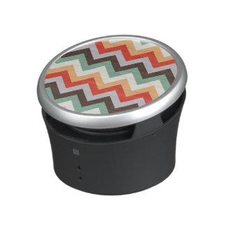 Colourful zigzag stripes speaker