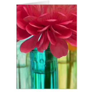 Colourful zinnias & vases II Greeting Card