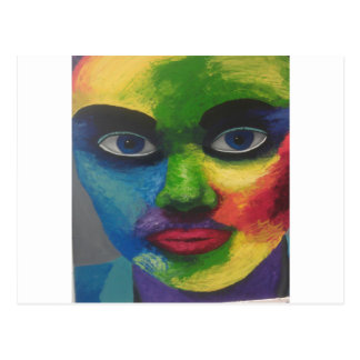 colourfull exsplosion postcard