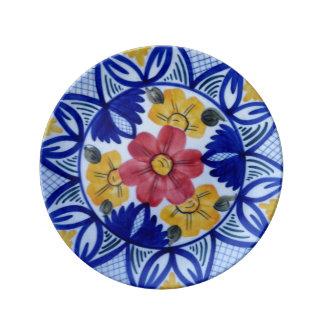 "Colourfull flower 8.5"" Decorative Porcelain Plate"