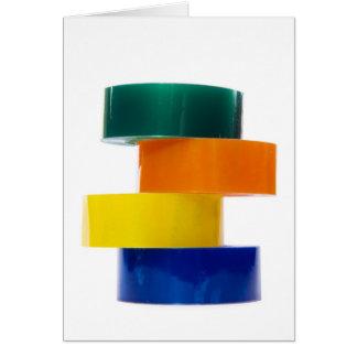 colourfull sellotape pile greeting card