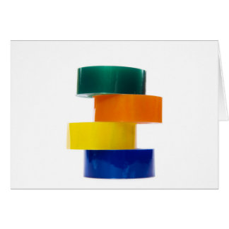 colourfull sellotape pile greeting card