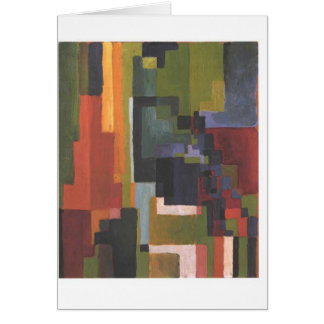 Colourfull shapes by August Macke Greeting Card