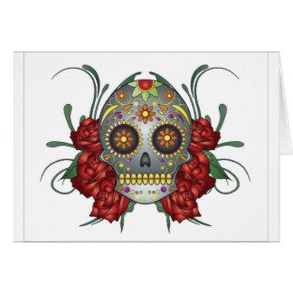 Colourfull Skull Design Greeting Card