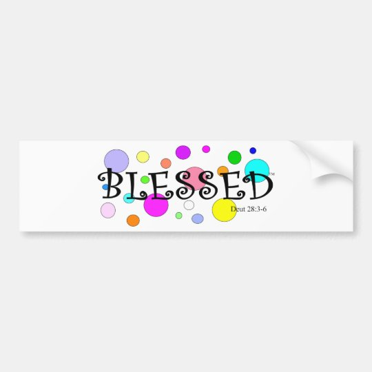colourfully blessed bumper sticker