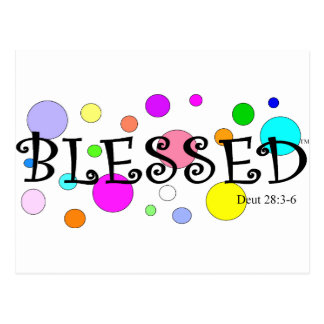 colourfully blessed postcard