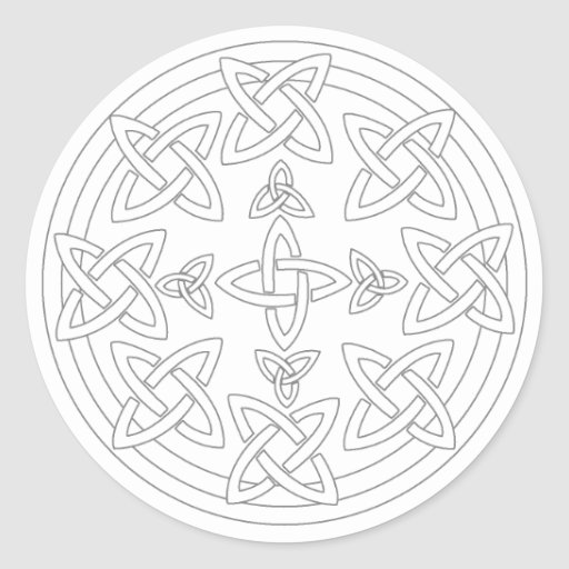Celtic knot mandala pages coloring pages for Celtic knot mandala coloring page