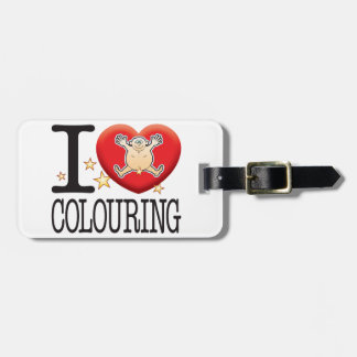 Colouring Love Man Luggage Tags