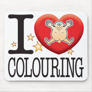 Colouring Love Man Mouse Pad