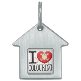 Colouring Love Man Pet ID Tag