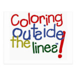 Colouring Outside the Lines Post Card