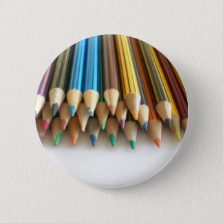 Colouring Pencils 6 Cm Round Badge