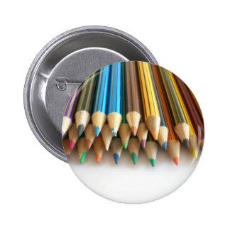 Colouring Pencils 6 Cm Round Badge