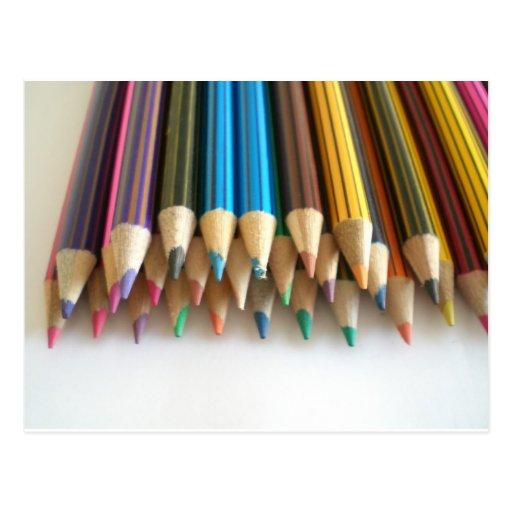Colouring Pencils Postcard