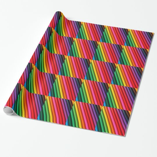 Colouring Pencils Wrapping Paper