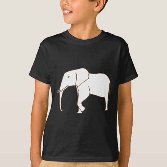 Colouring Shirts - Elephant Walking outline