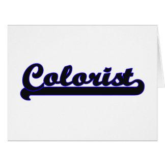 Colourist Classic Job Design Big Greeting Card
