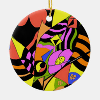 Colours Double-Sided Ceramic Round Christmas Ornament