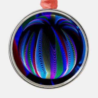Colours in the crystal ball christmas ornament