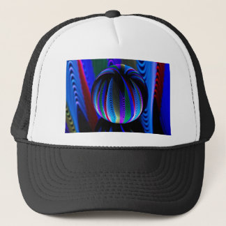 Colours in the crystal ball trucker hat