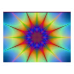 Colours In The Shape Of An Atom In Space Poster
