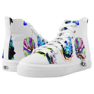 Colours in the wind hi tops printed shoes