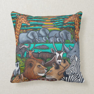 Colours of Africa Throw Pillows