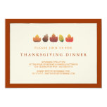 Colours of Autumn Falling Leaves Thanksgiving 13 Cm X 18 Cm Invitation Card