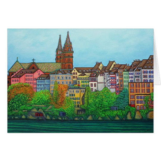 Colours of Basel Greeting Card by Lisa Lorenz