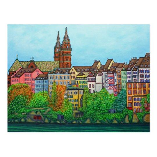 Colours of Basel PostCard by Lisa Lorenz