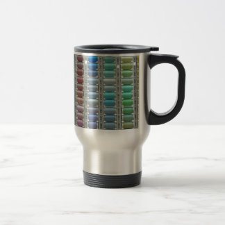 Colours of cotton stainless steel travel mug