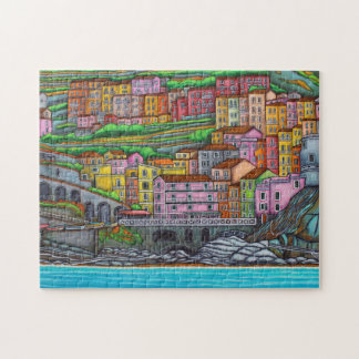 Colours of Manarola 11x14 Puzzle with Gift Box