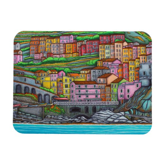 "Colours of Manarola 3""x4"" Photo Magnet"