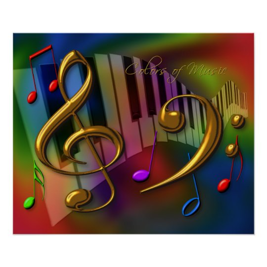 colours of music 20x24 poster