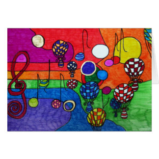 Colours of Music Greeting Card