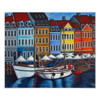 "Colours of Nyhavn 24"" x 20"", Print by Lisa Lorenz"