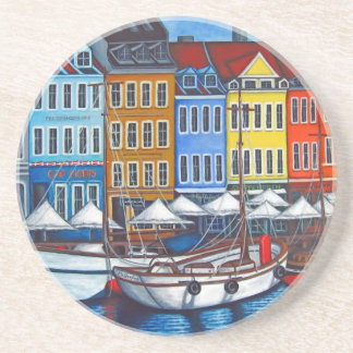 Colours of Nyhavn Coaster by Lisa Lorenz