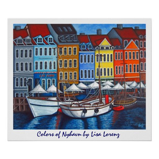 Colours of Nyhavn Poster Print