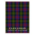 Colours of Scotland Clan Logan Tartan Postcard