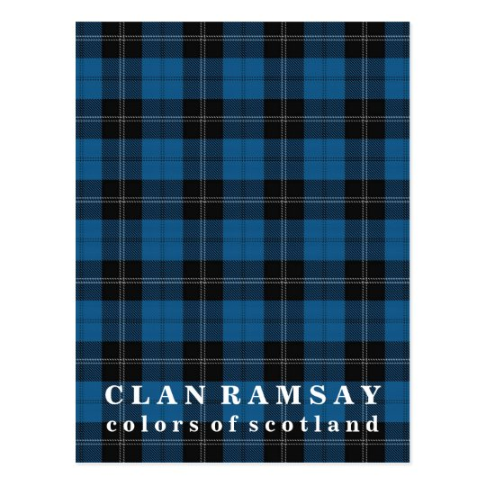 Colours of Scotland Clan Ramsay Blue Hunting Postcard